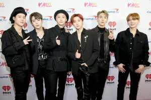 NEW YORK, NEW YORK - DECEMBER 13: (L-R) Jooheon, Minhyuk, Hyungwon, I.M, Shownu, and Kihyun of Monsta X arrive at iHeartRadio's Z100 Jingle Ball 2019 at Madison Square Garden on December 13, 2019 in New York City. (Photo by Monica Schipper/Getty Images)