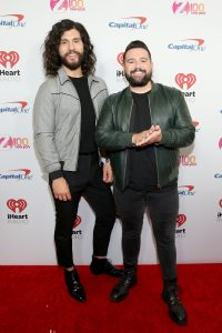 NEW YORK, NEW YORK - DECEMBER 13: Dan Smyers and Shay Mooney arrive at iHeartRadio's Z100 Jingle Ball 2019 at Madison Square Garden on December 13, 2019 in New York City. (Photo by Monica Schipper/Getty Images)