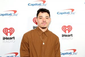NEW YORK, NEW YORK - DECEMBER 13: Anthony Ramos arrives at iHeartRadio's Z100 Jingle Ball 2019 at Madison Square Garden on December 13, 2019 in New York City. (Photo by Monica Schipper/Getty Images)
