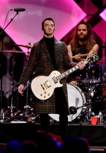 NEW YORK, NEW YORK - DECEMBER 13: Kevin Jonas performs onstage during iHeartRadio's Z100 Jingle Ball 2019 Presented By Capital One on December 13, 2019 in New York City. (Photo by Dia Dipasupil/Getty Images for iHeartMedia )