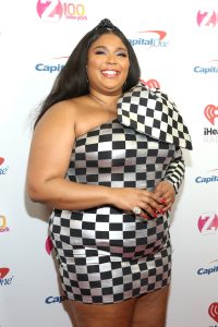 NEW YORK, NEW YORK - DECEMBER 13: Lizzo arrives at iHeartRadio's Z100 Jingle Ball 2019 Presented By Capital One on December 13, 2019 in New York City. (Photo by Monica Schipper/Getty Images)