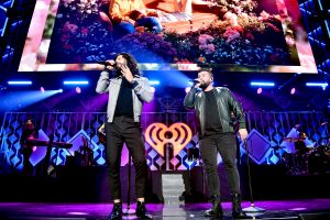 NEW YORK, NEW YORK - DECEMBER 13: Dan Smyers and Shay Mooney of Dan + Shay perform onstage during iHeartRadio's Z100 Jingle Ball 2019 at Madison Square Garden on December 13, 2019 in New York City. (Photo by Theo Wargo/Getty Images for iHeartMedia )