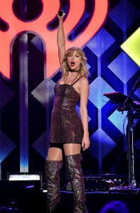 NEW YORK, NEW YORK - DECEMBER 13: Taylor Swift performs onstage during iHeartRadio's Z100 Jingle Ball 2019 Presented By Capital One on December 13, 2019 in New York City. (Photo by Dia Dipasupil/Getty Images for iHeartMedia )