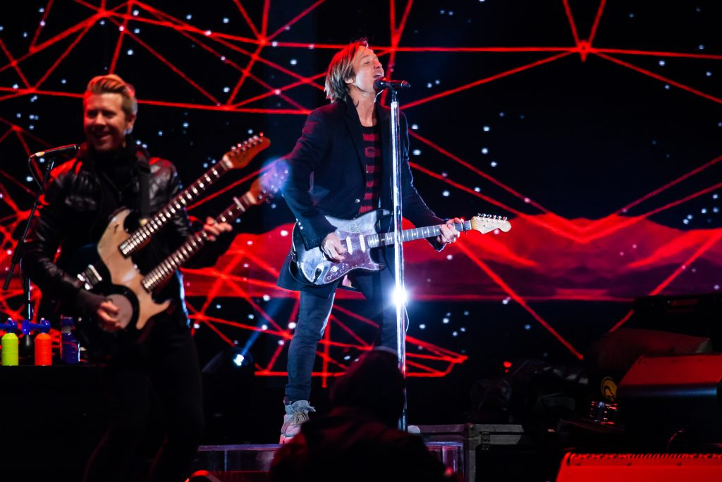 Keith Urban at Music City Midnight 2019-2020. Photo by Kindell Buchanan / StarShine Magazine