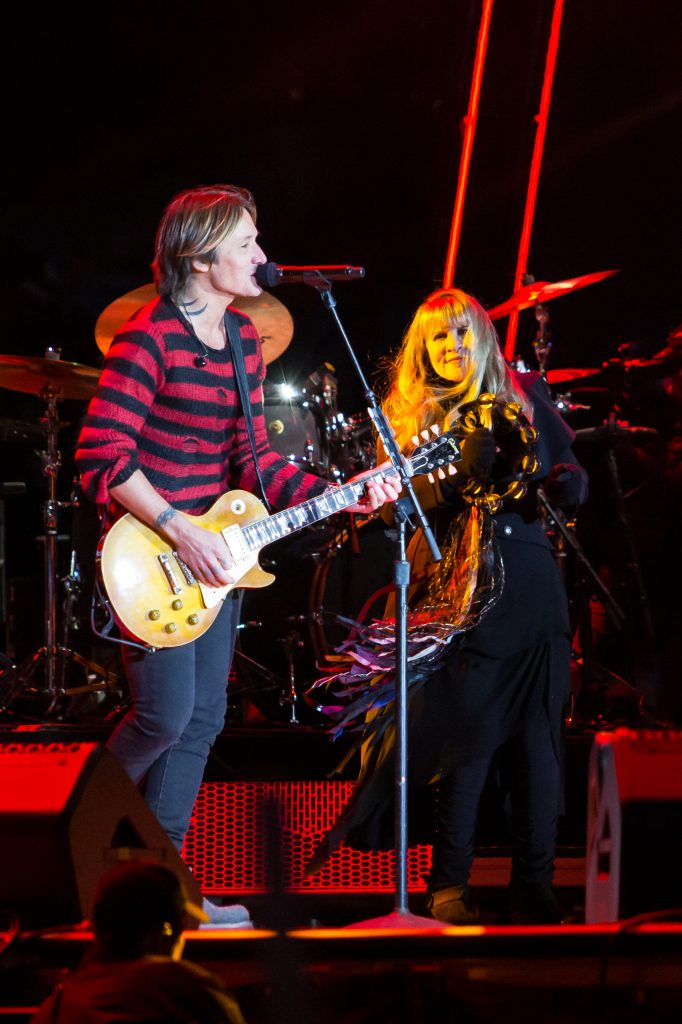 Keith Urban and Stevie Nicks at Music City Midnight 2019-2020. Photo by Kindell Buchanan / StarShine Magazine