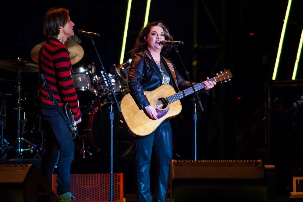 Ashley McBryde and Keith Urban at Music City Midnight 2019-2020. Photo by Kindell Buchanan / StarShine Magazine