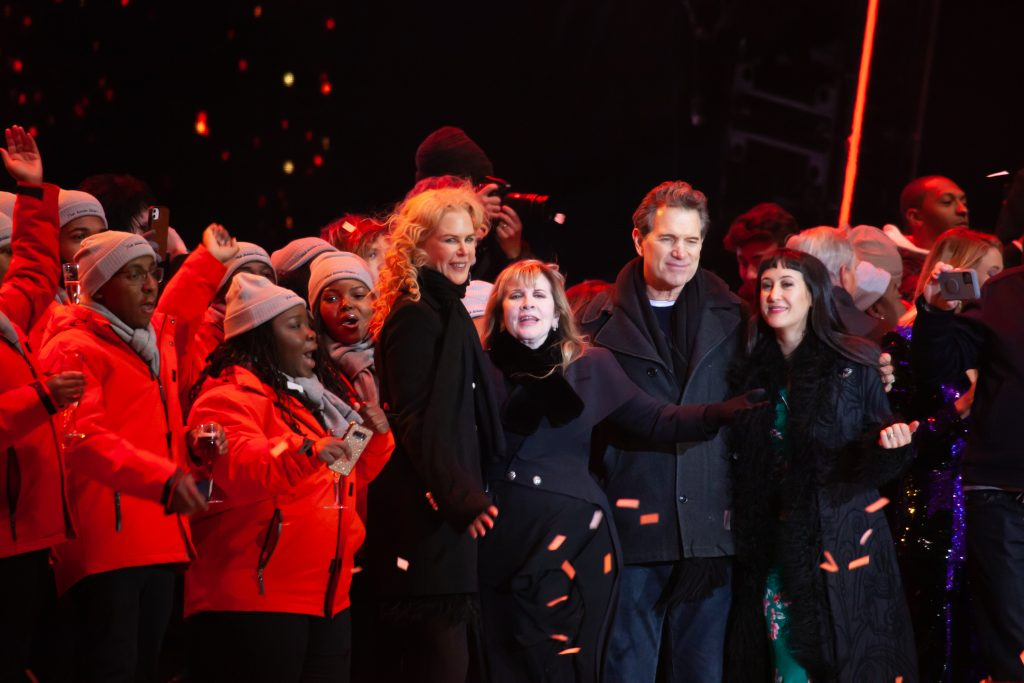 The Fisk Jubilee Singers, Nicole Kidman, Stevie Nicks, and Chris Isaak. Music City Midnight 2019-2020. Photo by Kindell Buchanan / StarShine Magazine