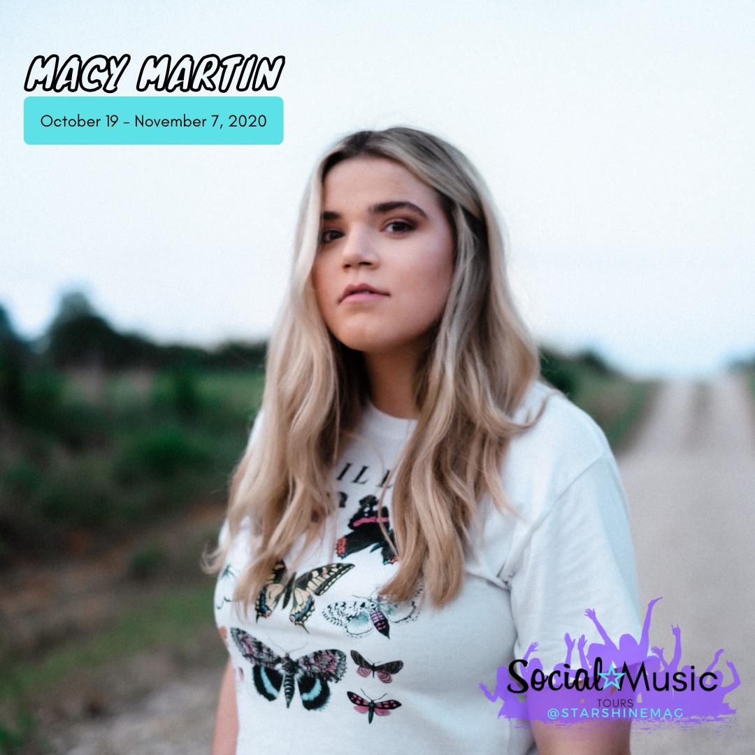 StarShine Social Music Tour Itinerary: Macy Martin